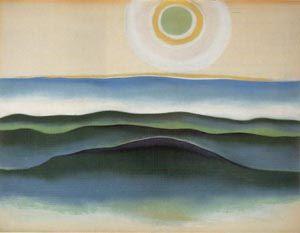 Georgia O'Keeffe. Sun Water Maine 1922