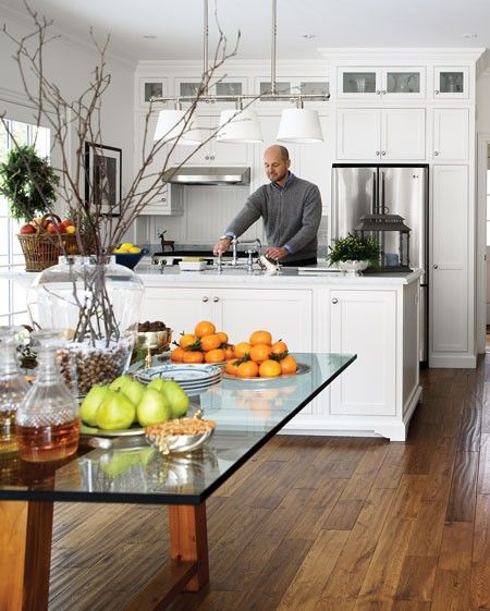 Festive Open House Buffet | photo Donna Griffith | House & Home | Looks familiar...odd trend with Canadian homes...