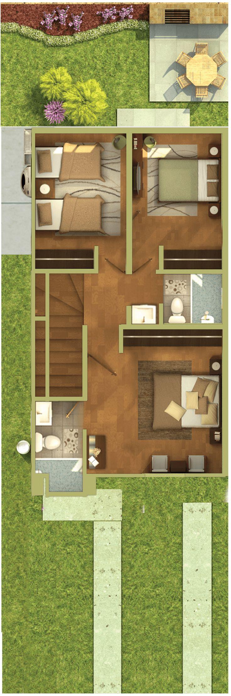 Planta Alta Modern House PlansHouse