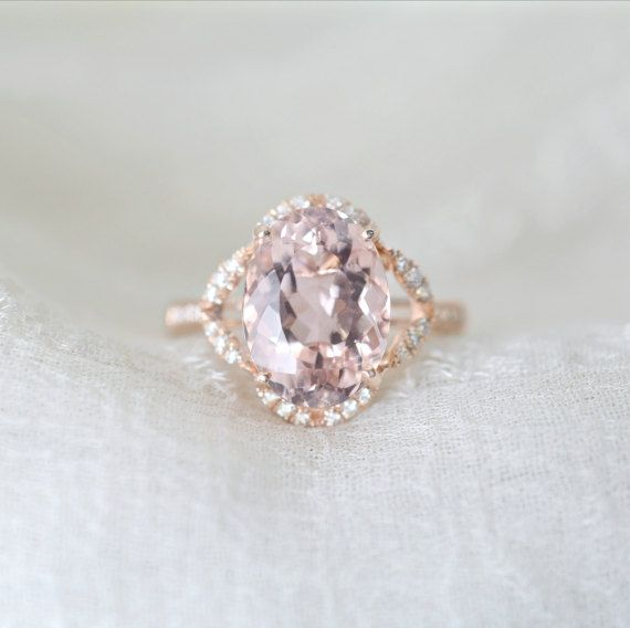 Bague fiancaille morganite