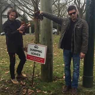 Can we take a moment to appreciate that they actually went and found leaves to dump? These boys are my heroes.