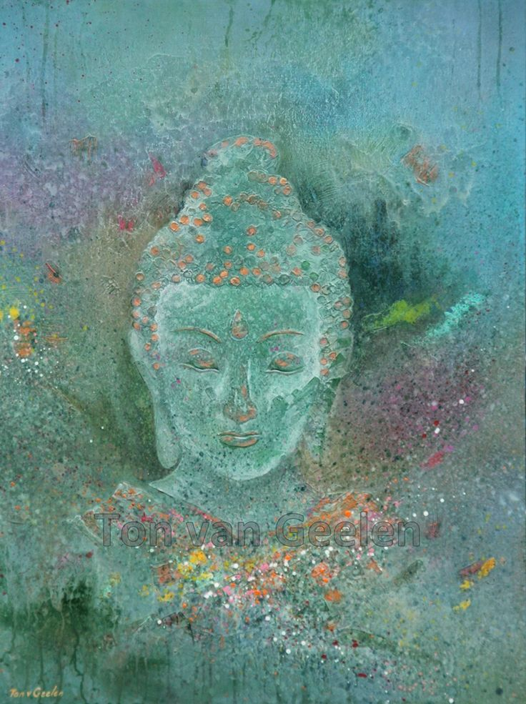 Tuinschilderij 'Buddha' by Ton van Geelen #buddha #boeddha #tuin # kunst