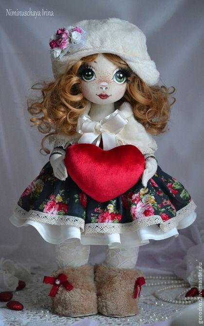 Настенька - бордовый,сердце,любовь,рыжая девочка,кудряшки,реснички,угги