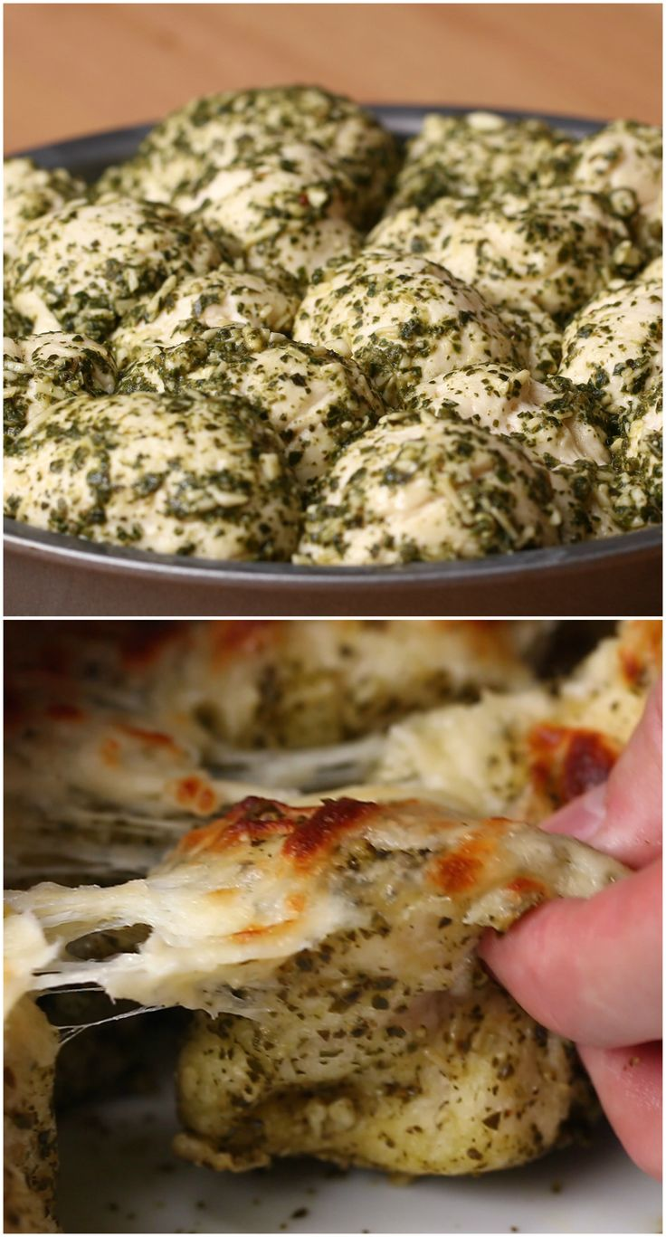 Tear And Share Cheesy Pesto Dough Balls