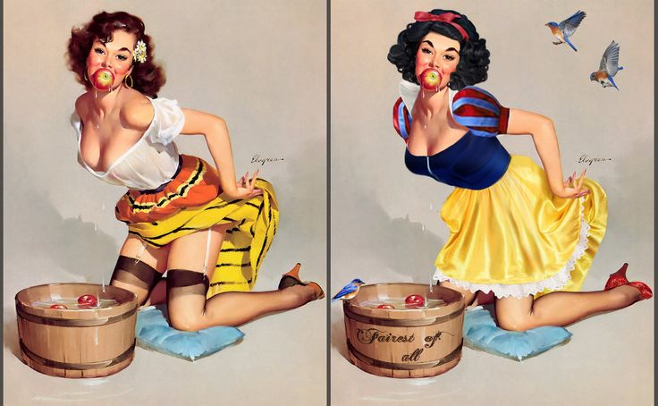 What would you get if you crossed the charming, ever-so-innocent Disney princesses with...sexy, risqué pin-up girls? Read on to see the Disney girls like you've never seen them before.