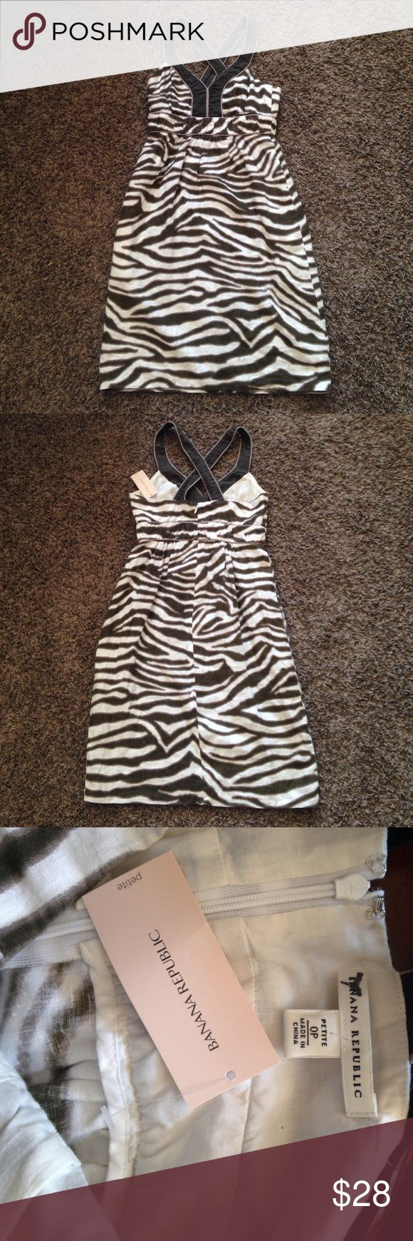 NWT Banana Republic Animal Print Dress. size 0P. This Banana Republic animal print dress is fabulous! It is brand new with tags and is a size 0 petite. Banana Republic Dresses