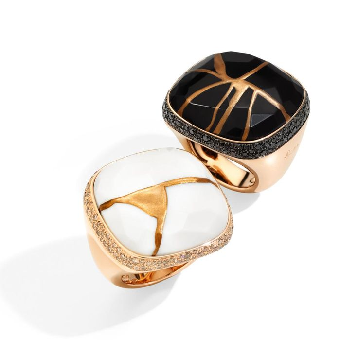 Pomellato's Kintsugi jewelry taps into the trend of flawed beauty | The Jewellery Editor High Jewelry, Modern Jewelry, Ancient Japanese Art, Japanese Jewelry, Jewellery Exhibition, Rose Gold Pendant, Pomellato, Kintsugi, Jewelry Branding