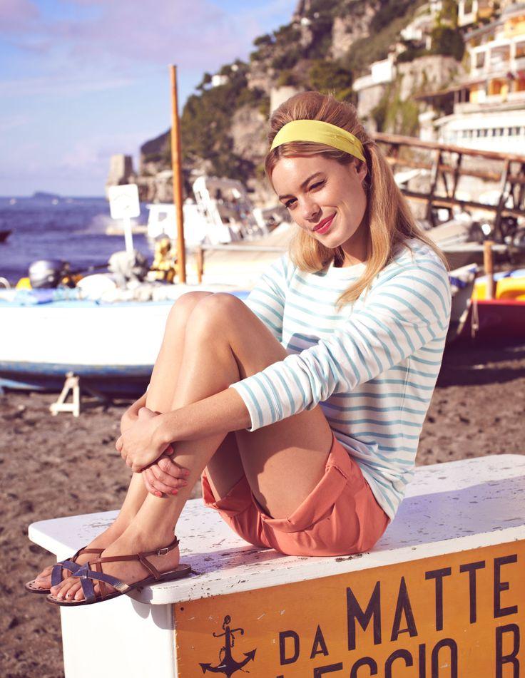 French Riviera-Style. Nicht meine Farbe, aber ein ersterbenswerter Look