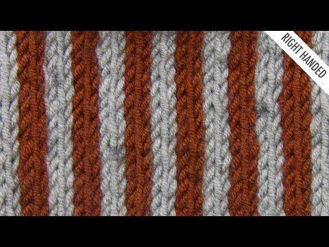 Simple Vertical Stripes Stitch using slip stitch:: Knitting :: New Stitch a Day