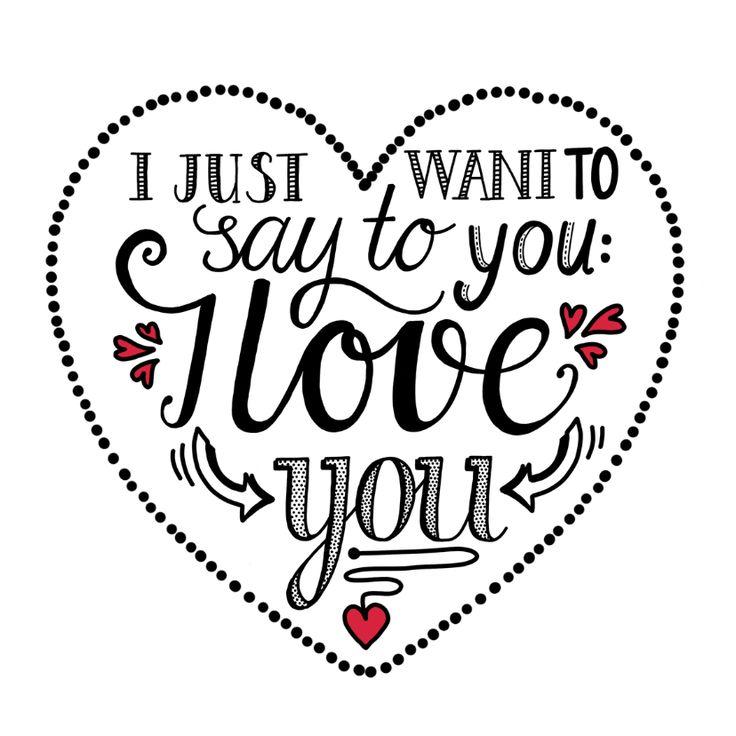 Voor Valentijnsdag of zomaar.... Vertel de allerliefste dat je van hem of haar houdt!