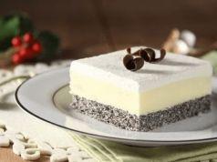 Lahodný dezert bez mouky: Jednoduché makové kostky s krémem a šlehačkou!
