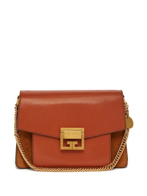 408e15fdb086 GV3 mini suede and leather cross-body bag
