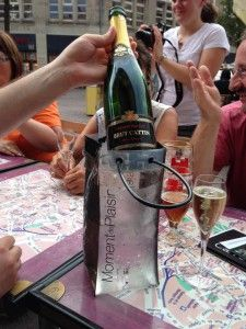 Colmar im Elsass -> eine leckere Flasche Crement zum Mittagessen