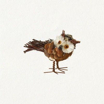 owl pinecone craft | Pinecone owl He's adorable!