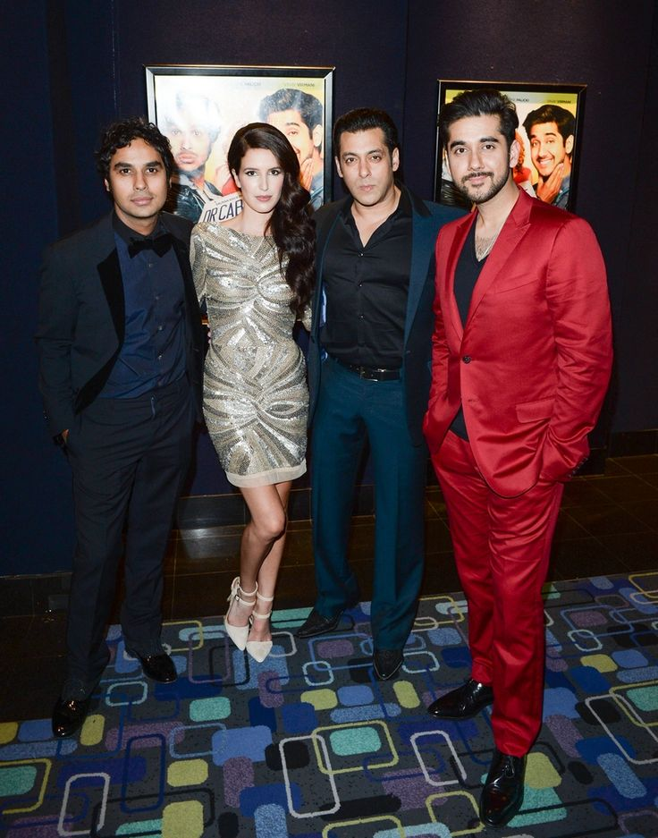 Salman Khan with Kunal Nayyar, Isabel and Vinay Virmani at the Toronto premiere of Dr Cabbie. #Bollywood #Fashion #Style #Beauty #Handsome