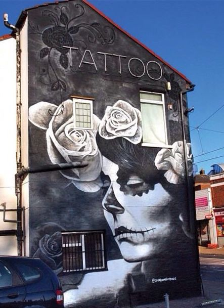 by Gnasher for Steel Point Tattoos - Tamworth Road, Croydon, South London - 10/14 (LP)