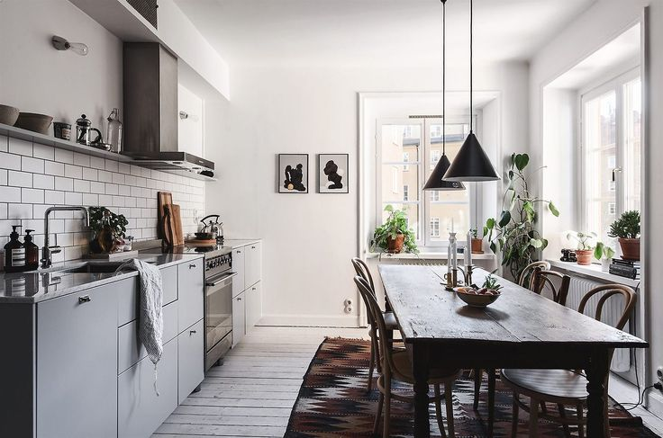 Nice mixture of styles in this Swedish apartment