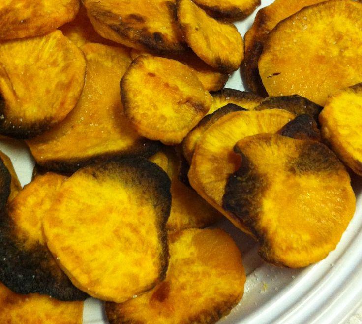 how to make crispy sweet potato chips