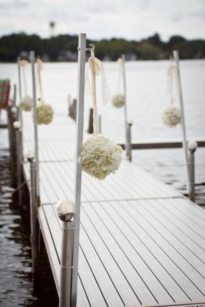 Dock decor for a Pittsburgh lake wedding. | Party Ideas ...