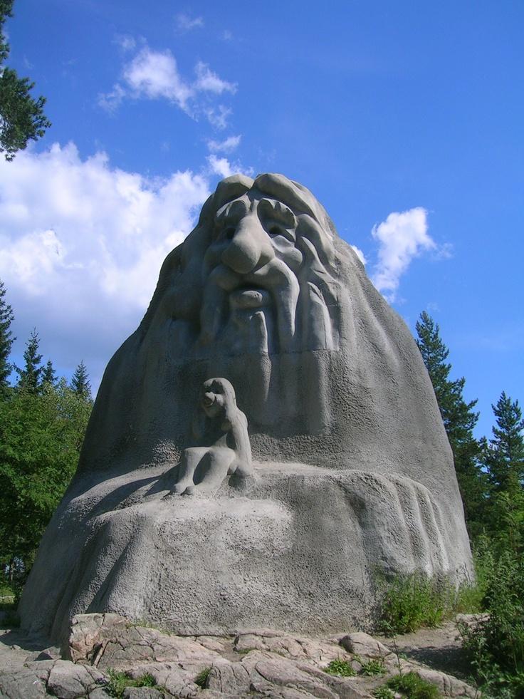 Inter Travel rekomenduoja. Holmenkolendo Trolis. Oslas, Norvegija. Holmenkollen Troll, Oslo, Norway #Norway #Norge #Norvegija