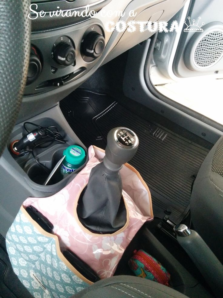 Se virando com a costura: Lixeira para carro com porta acessórios