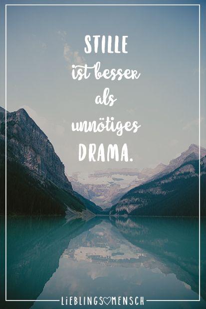 Stille ist besser als unnötiges Drama – VISUAL STATEMENTS