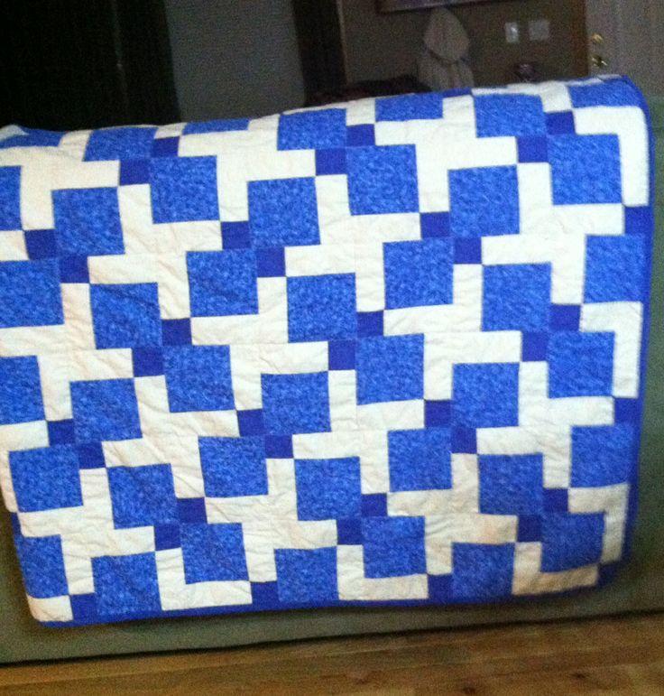 Tossed nine patch quilt tutorial