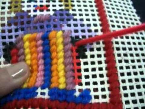 El arte de los tapices en cañamazo - YouTube