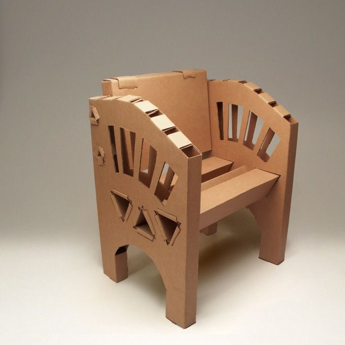 Design Ideas For Unique Chair Cardboard Furniture