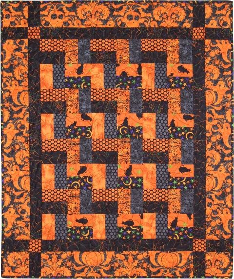 Endless Creaking Stairs quilt. This would be a fun, easy quilt with different Halloween fabrics.