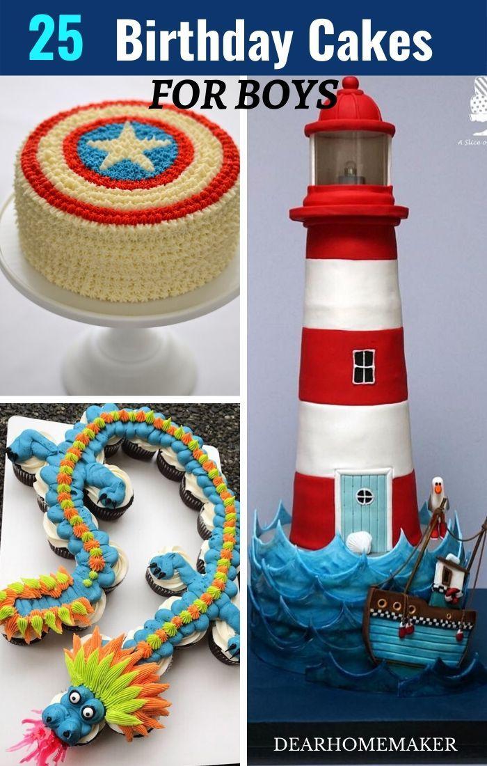25 Best Birthday Cakes for Boys | Dear Home Maker in 2020 ...