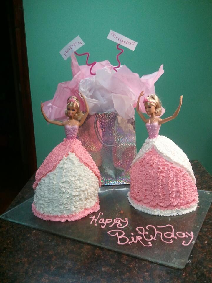 Barbie Cakes For Twin Girls Barbie Birthday Cake Twins