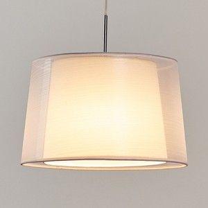 Textielen pendellamp Jasna met edele, dubbele kap en E27-LED-lichtbronMet zijn naar onder licht breder wordende vorm is de LED-pendellamp een zeer moderne, hedendaagse lichtbron die zeer veelzijdig gebruikt kan worden. Niet enkel in de woonkamer zorgt ze voor gezellig licht, ook in de hal of in de slaapkamer is Jasna altijd een lichtbron die een uitnodigende sfeer vakkundig onderstreept. Zeker het vermelden waard is dat de textiel-hanglamp in zeker zin uit twee aparte kappen bestaat: De…