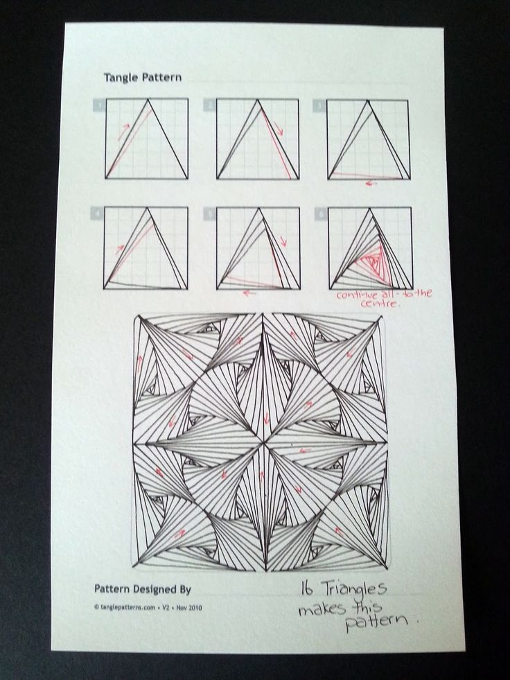 Judy's Zentangle Creations: Paradox Triangles.  Much easier than the way I've been doing it