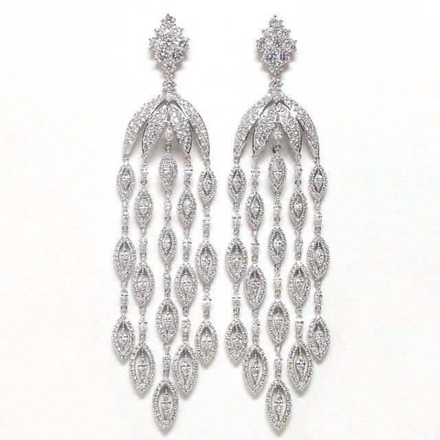 Diamond Chandelier Earrings   You can see the Rest of the Outfit and my Remarks on this board. - Gabrielle