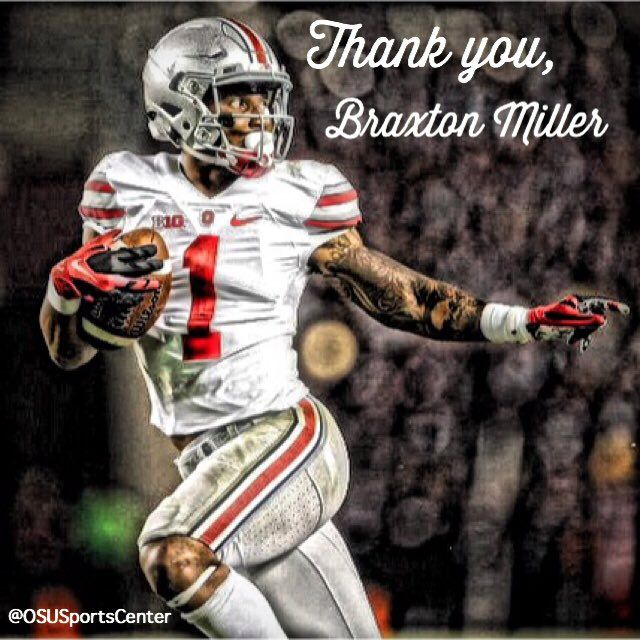 OSU Sports Center Thank you, Braxton Miller