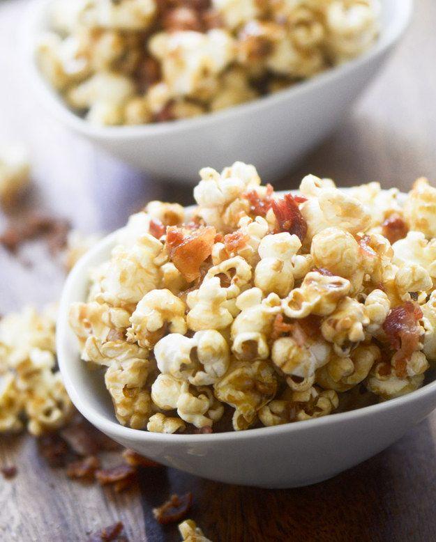 Y porque, todo es mejor con tocino. | 16 Deliciosas recetas para los fans de las palomitas