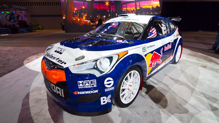 Rhys Millen's Hyundai Veloster Rallycross car.Japanese Vehicle, Month Cars, Millen Hyundai, Cars Insurance, Rallycross, Cars Thoughts, Mazda Hino, Hyundai Veloster, Cars Stuff