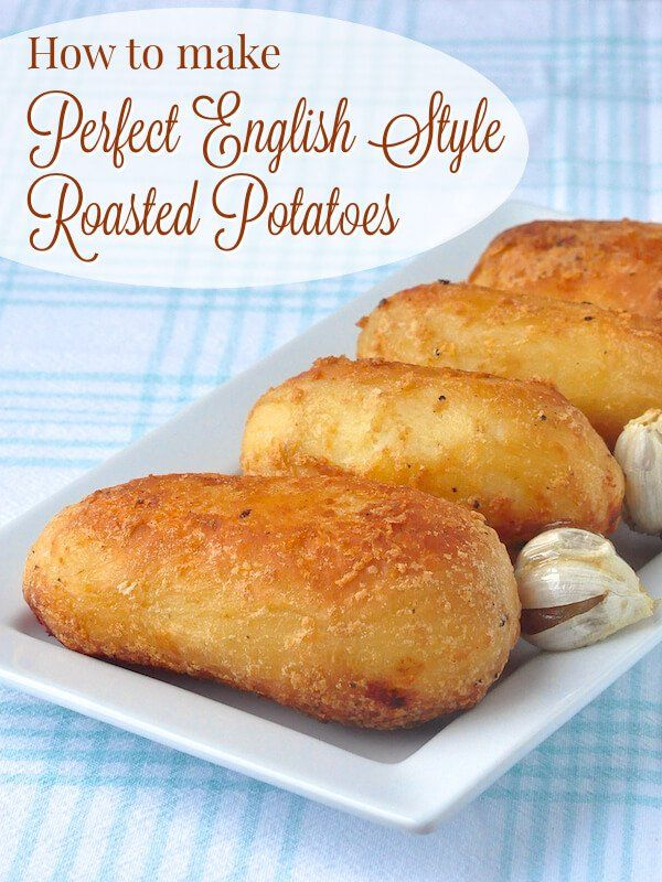The Perfect Roasted Potatoes (English Style Roast Potatoes) - forget mashed!...roast those potatoes! Learn how to create a crispy outside with a steaming fluffy inside every time. Great with roast chicken, beef or pork and wonderful served with roasted garlic and sour cream. Soooo delicious.