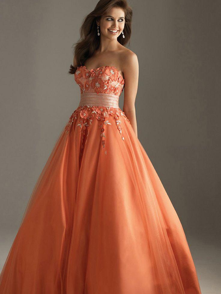 orange wedding dresses wedding dresses orange prom dresses