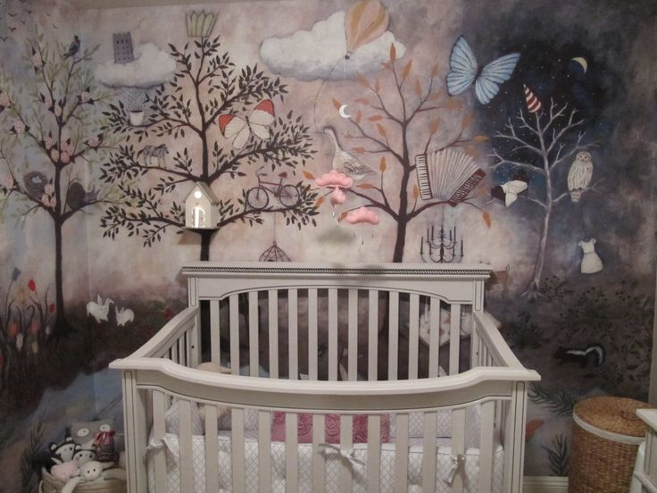 Best 25 enchanted forest nursery ideas on pinterest for Enchanted forest mural wallpaper