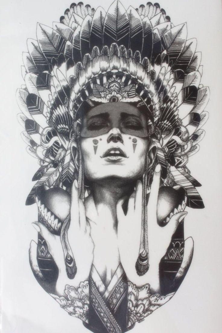 古代の女性を保つ涙サイズ22 × 12センチ真新しいボディーアート一時タトゥーエキゾチックなセクシーな一時タトゥーステッカー