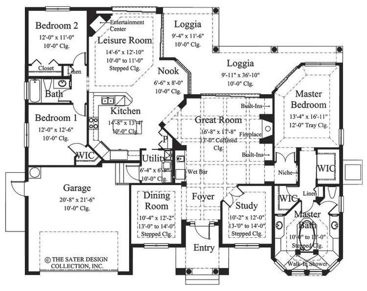 House plan the toscana sater design collection small home plans