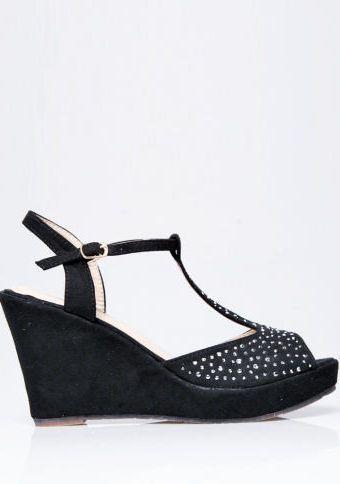 Sandály se štrasovým zdobením #ModinoCZ #sandals #shoes #black #fashion #style #sandaly #cerna #stras #boty #moda