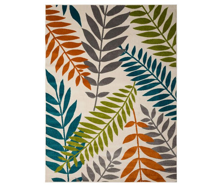 Wilson & Fisher Blythewood Multi-Color Leaves Patio Rugs at Big Lots.