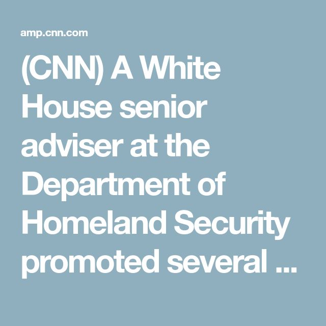 (CNN) A White House senior adviser at the Department of Homeland Security promoted several far-right conspiracy theories in past radio appearances, a CNN KFile review has found. Frank Wuco, a former naval intelligence officer and conservative talk radio host, has served as the White House adviser to DHS since January and leads a team tasked with helping to enforce President Donald Trump's executive orders. A KFile review of more than 40 hours of Wuco's radio appearances shows he regularly…