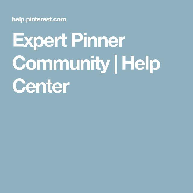 Expert Pinner Community | Help Center