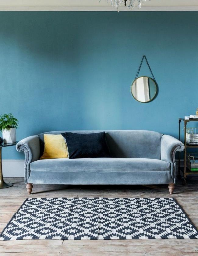 30 Fabolous Velvet Sofa Design Ideas For Living Rooms Livingroom Livingroomideas Livingroomdecor Light Blue Sofa Blue Velvet Sofa Teal Velvet Sofa