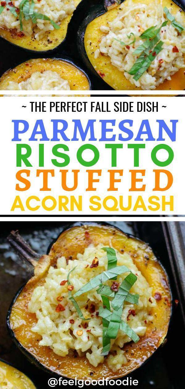 Risotto Stuffed Acorn Squash Recipe Vegetarian Main Course