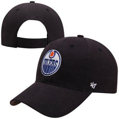 '47 Brand Edmonton Oilers Youth Basic Adjustable Hat - Navy Blue
